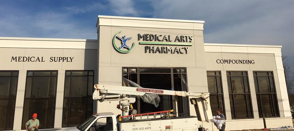 Thanks to Harrell Sign for installing our sign today!!! We love it!!!